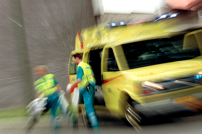 Actiefoto ambulance
